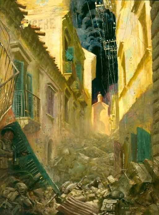 """Via Dolorosa, Ortona"" by Charles Comfort."