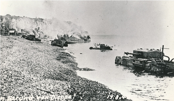 Main beach of Dieppe after the battle [LCMSDS AN19830136-001#2]