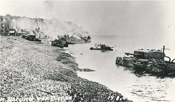 Main beach of Dieppe after the battle [LCMSDS AN19830136-001#2]