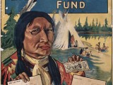 Although created to shame Canada's non-Native population into donating to the Canadian Patriotic Fund, this racialized poster does reflect the support the war effort received from First Nations communities across Canada.  Many First Nations people and communities donating money and hand made items to various war charities like the Canadian Patriotic Fund.