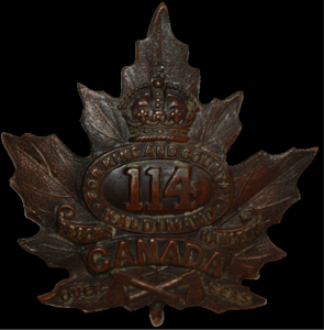 "The 114th ""Brock's Rangers"" Battalion was recruited out of the Six Nations Grand River area in 1915, but included many First Nations recruits from Ontario and Quebec."