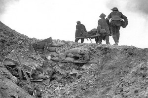 BEF stretcher bearers, Thiepval, September 1916.