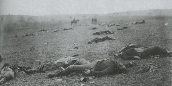 The Harvest of Death, Gettysburg Pennsylvania by Alexander Gardner, July 1863 (Stereoscope made from a negative by Timothy O'Sullivan)