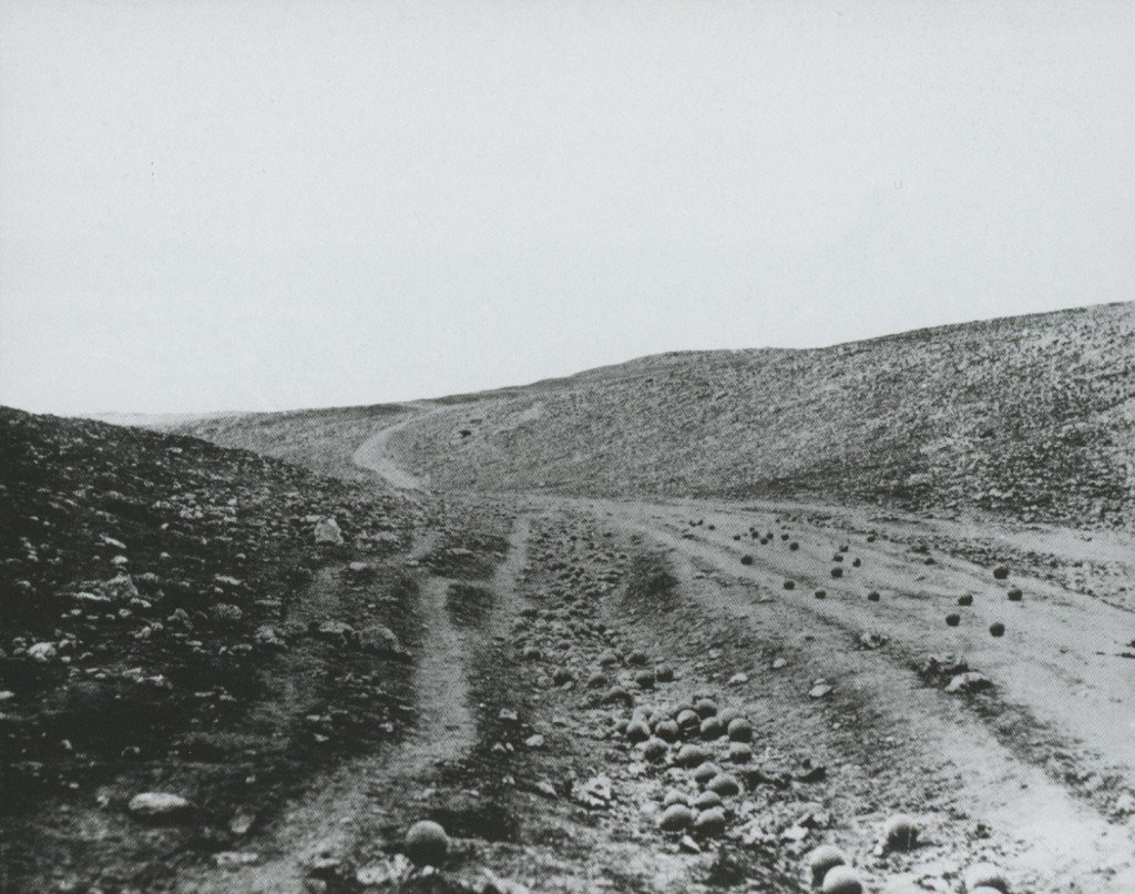 The Valley of the Shadow of Death by Roger Fenton, 1855 (Paper Print, Victoria and Albert Museum, London)