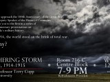 "Parliamentary Presentations: Terry Copp and ""The Gathering Storm"" on 12 February 2014"
