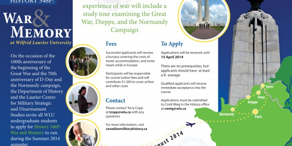 Undergraduate Students Apply Now for HI364P – War & Memory Study Tour