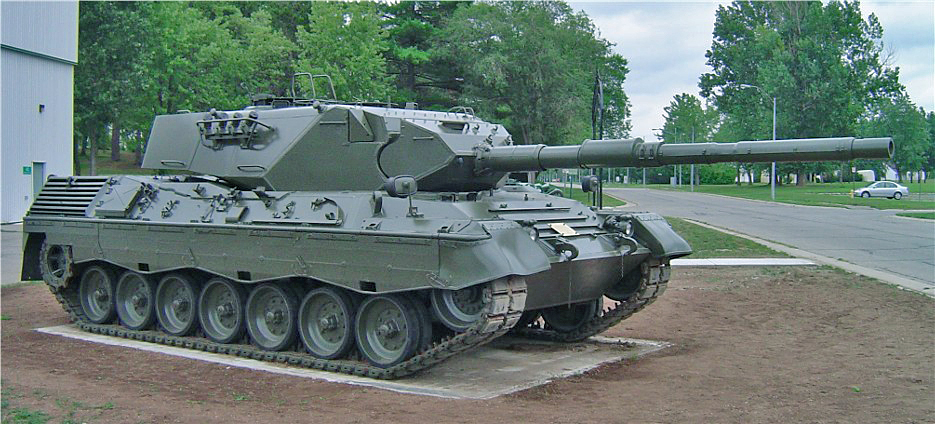 Leopard at Camp Borden.
