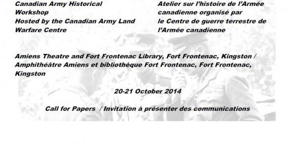 Call for Papers: Canadian Army Historical Workshop