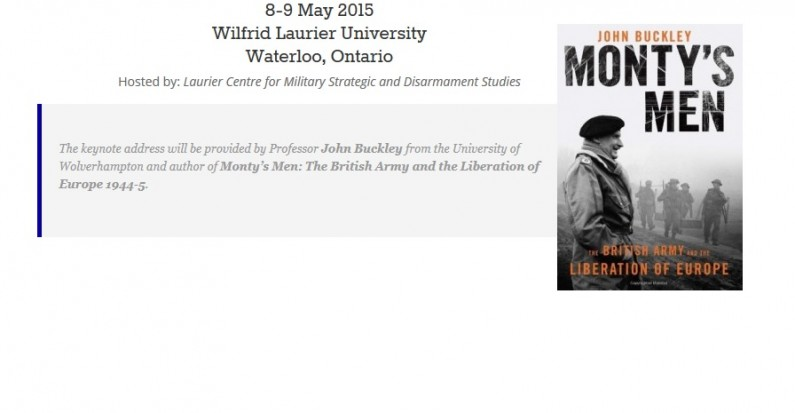 Tentative Schedule: 26th Annual Canadian Military History Colloquium, 8-9 May