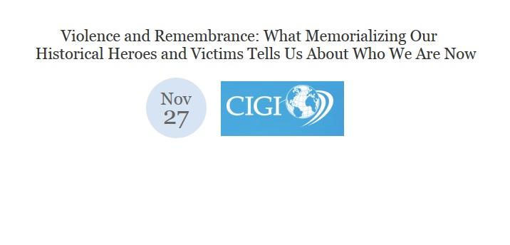 Edward T. Linenthal: CIGI Campus, Nov. 27th