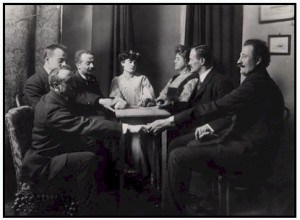 A typical Spiritualist séance.