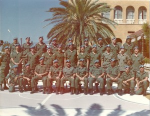 "The fine handsome lads of ""B"" Coy 6 Platoon 1 RCR in front of the Ledra Palace Photo Credit 1RCR Photographer"