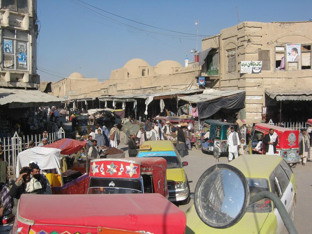 Leading a convoy through Kandahar City