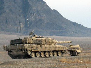 Leopard C2 with Mine Rollers in Panjwai