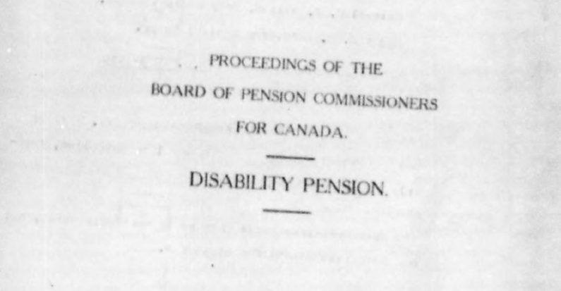 An Introduction to the  Veteran Disability Pension Files at LCMSDS by Michelle Filice