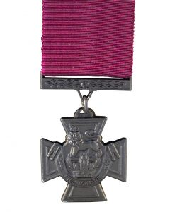 "Canadian Victoria Cross released in 1993. Note the different inscription ""Pro Valour""."
