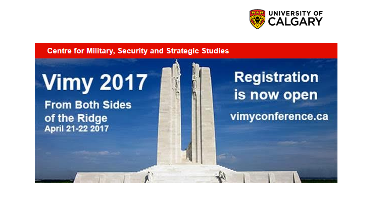 Vimy 2017: Both Sides of the Ridge, Registration Now Open