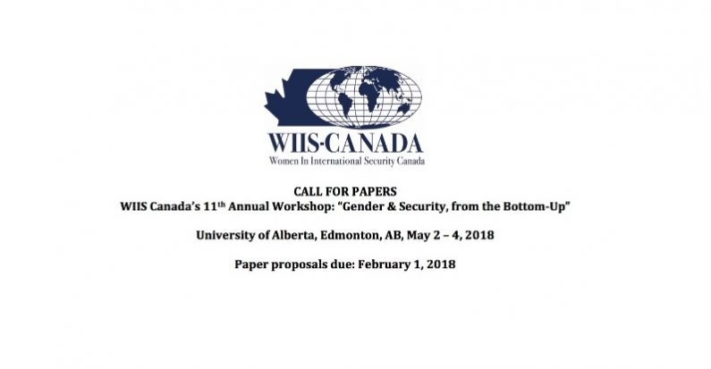 Call for Papers: Women in International Security-Canada, 11th Annual Workshop