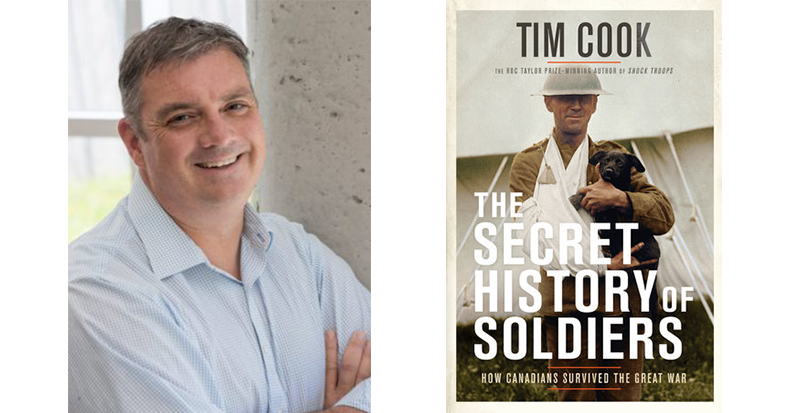 "Speaker Series: Tim Cook, ""The Secret History of Soldiers,"" October 17 (in Waterloo) and October 18 (in Guelph)"