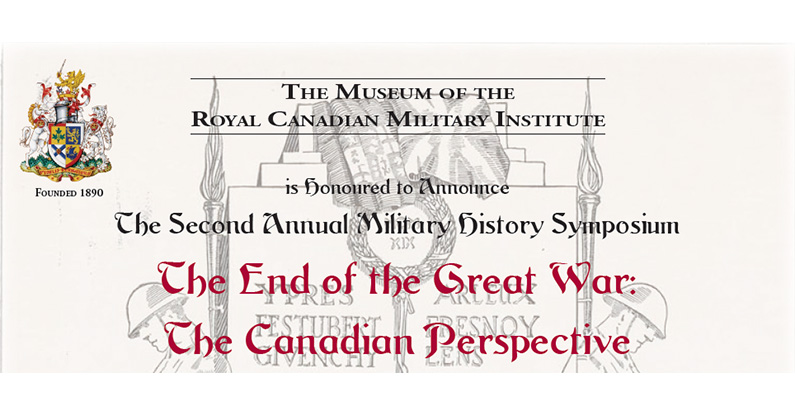 RCMI's Second Annual Military History Symposium: The End of the Great War, Nov. 3rd