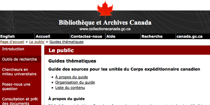 L'exploration archivistique
