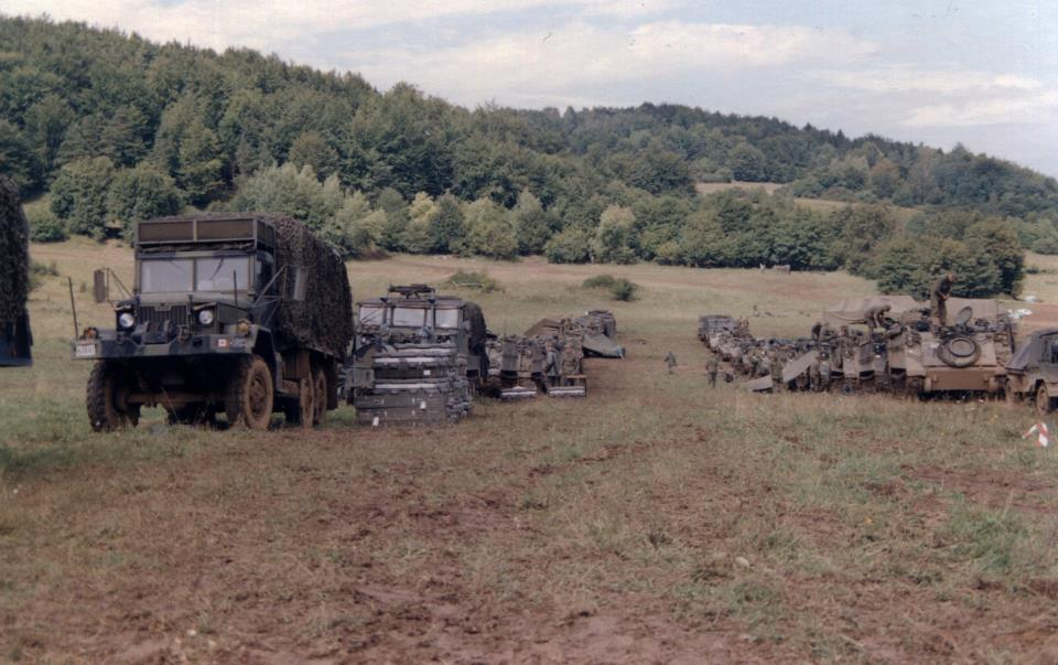 'A laager' - a defensive encampment encircled by armored vehicles. The type of area we left our vehicles when we carried out the ambush (Photo by  Brian Watters)