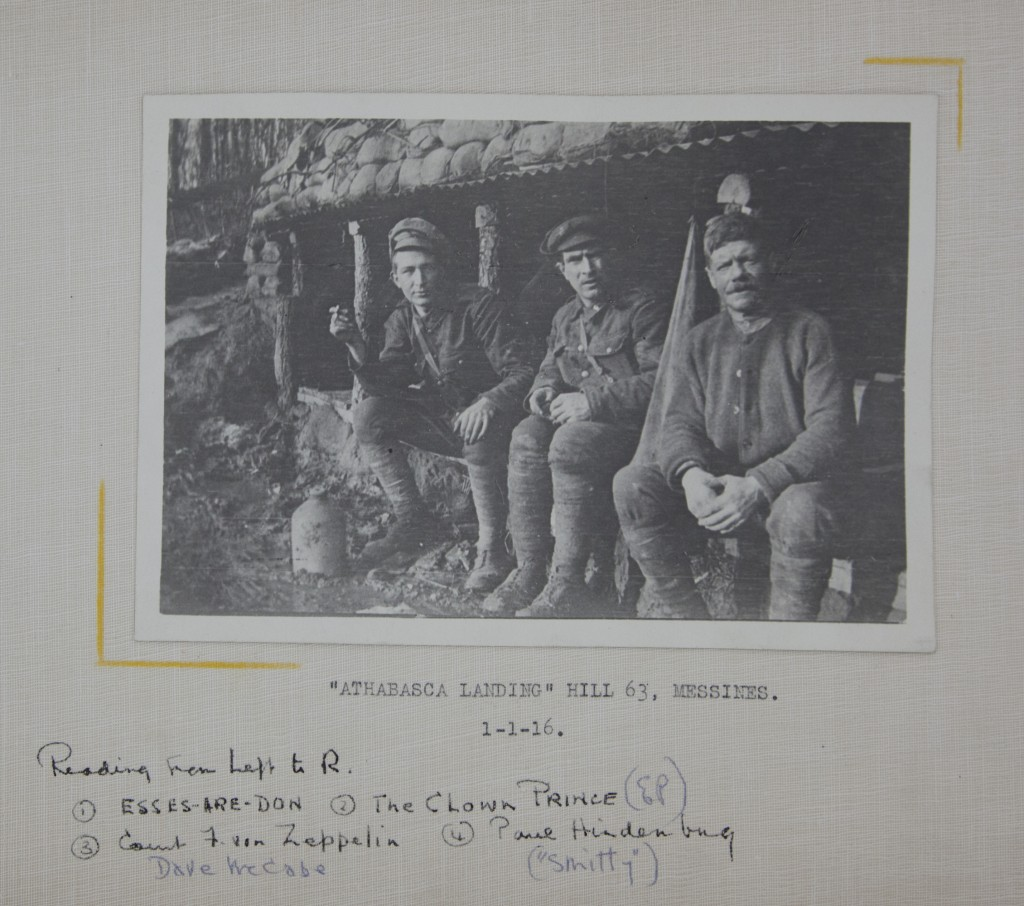 Note the three different annotations on this photograph. This indicates that Pye (who refers to himself as the Clown Prince) revisited his album and added new insights.