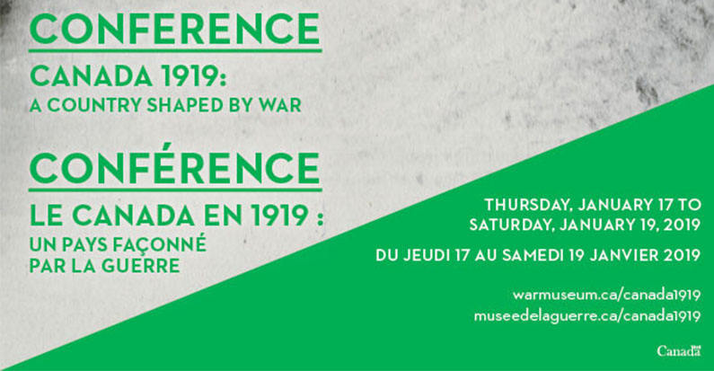 Conference–Canada 1919: A Country Shaped by War, January 17-19